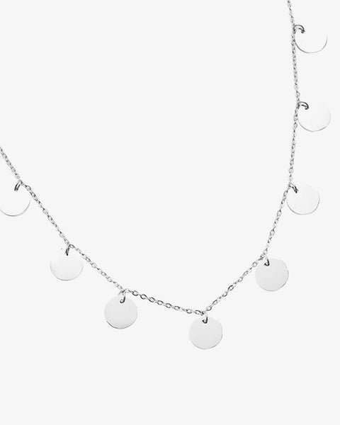Coins Necklace - Silver