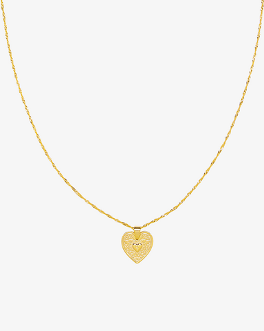 Locked in Love Necklace - Gold - we are SASSY.