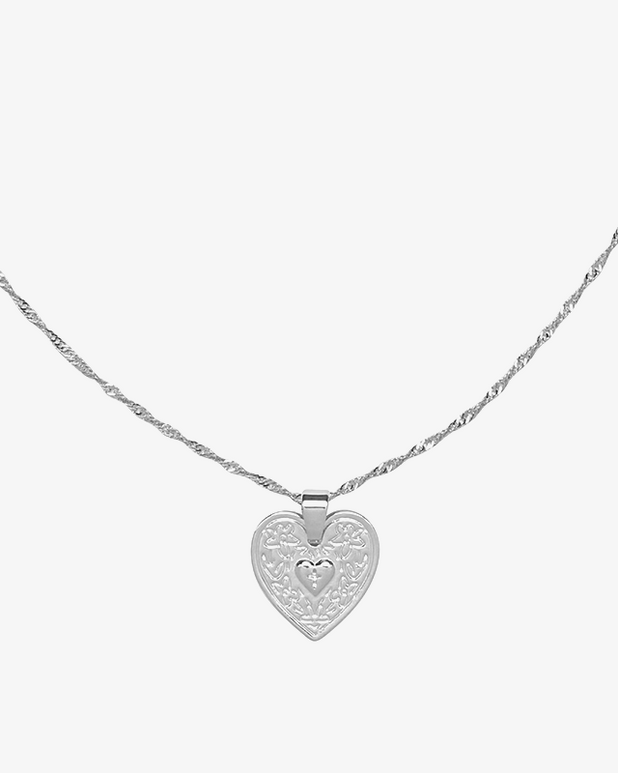 Locked in Love Necklace - Silver - we are SASSY.