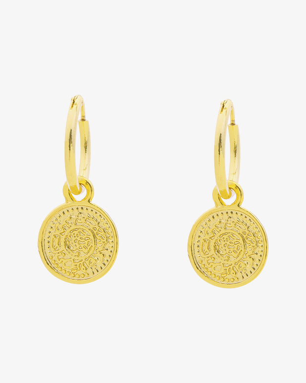 Lucky Coin II Earrings - Gold - we are SASSY.
