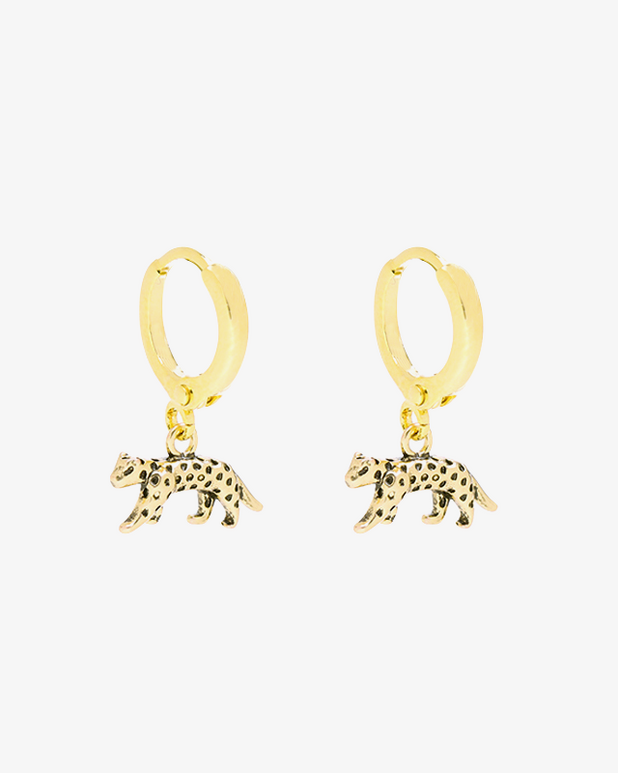 Lucky Leopard Earrings - Gold - we are SASSY.