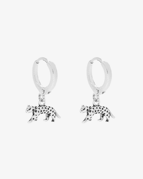Lucky Leopard Earrings - Silver