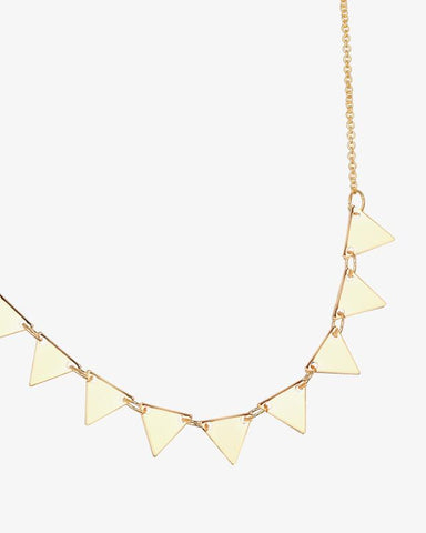 Triangles Necklace - Gold - we are SASSY.