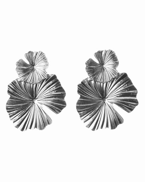 New Leaf Earrings - Silver