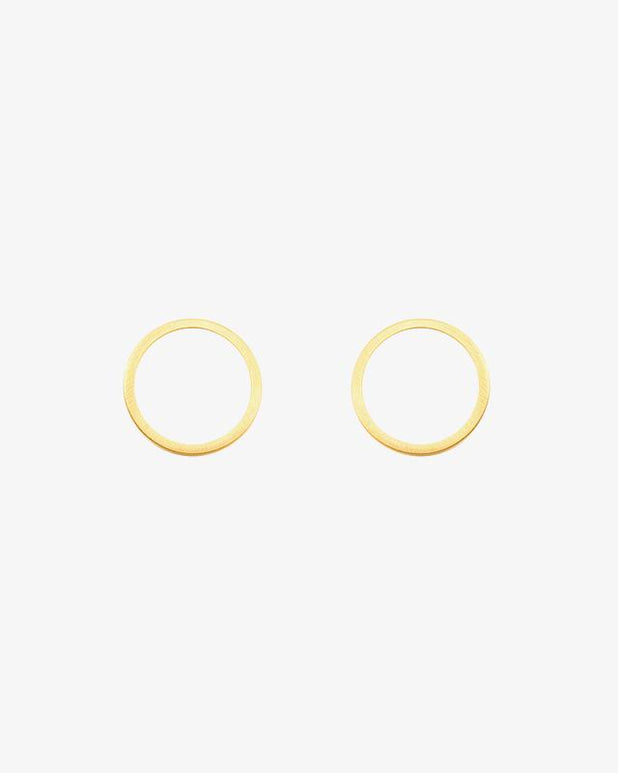 Full Circle Earrings - Gold - we are SASSY.