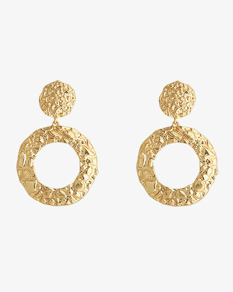 Pretty Circles Earrings - Gold