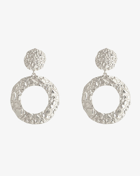 Pretty Circles Earrings - Silver