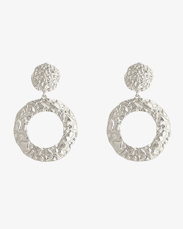 Pretty Circles Earrings - Silver - we are SASSY.