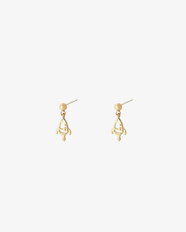 Rocket Earrings - Gold - we are SASSY.
