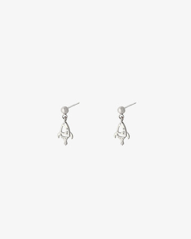 Rocket Earrings - Silver - we are SASSY.