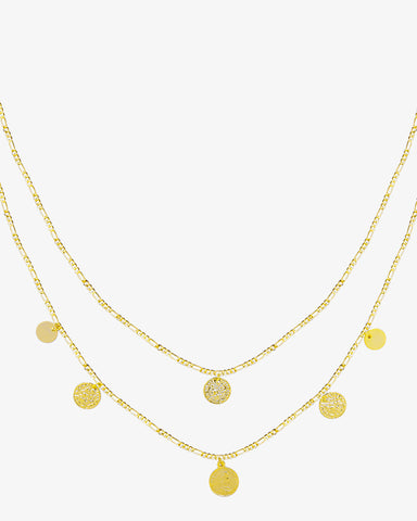 Royal Coins Necklace - Gold - we are SASSY.