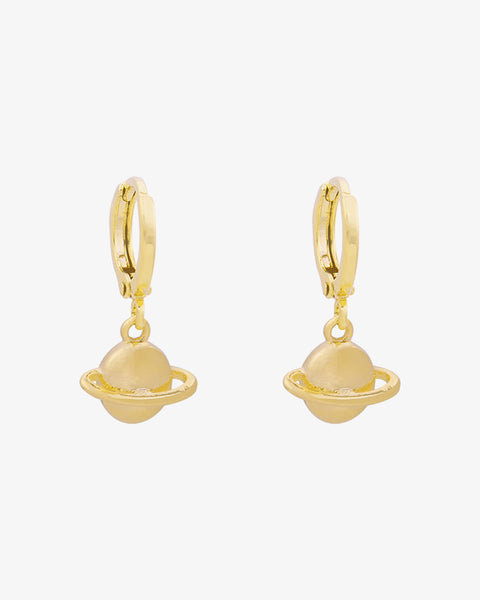 Saturn Earrings - Gold