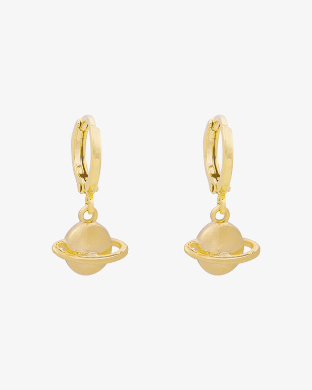 Saturn Earrings - Gold - we are SASSY.
