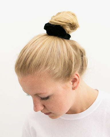 Velvet Scrunchie - Black - we are SASSY.