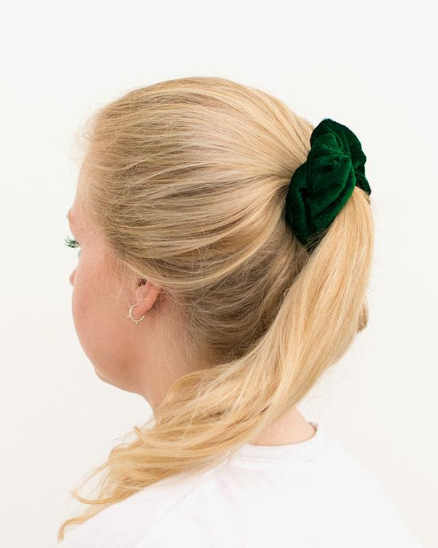 Velvet Scrunchie - Green - we are SASSY.