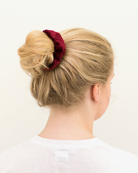 Velvet Scrunchie - Red