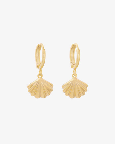 Seashell Earrings - Gold - we are SASSY.