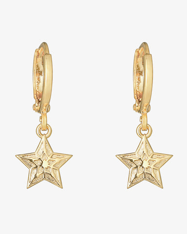 Sparkling Star Earrings - Gold - we are SASSY.