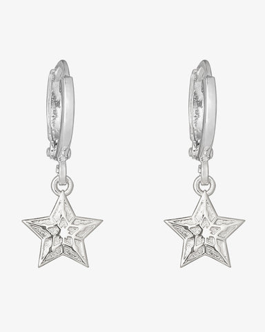 Sparkling Star Earrings - Silver - we are SASSY.