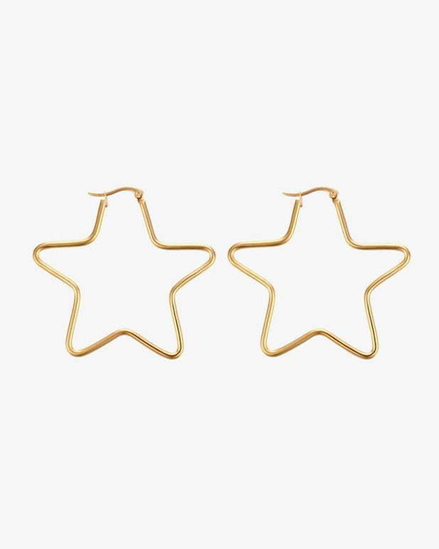 Star Hoops - Gold - we are SASSY.