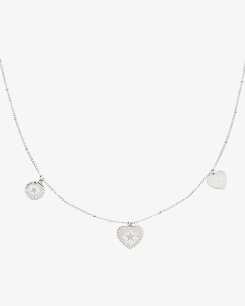 Star Lover Necklace - Silver