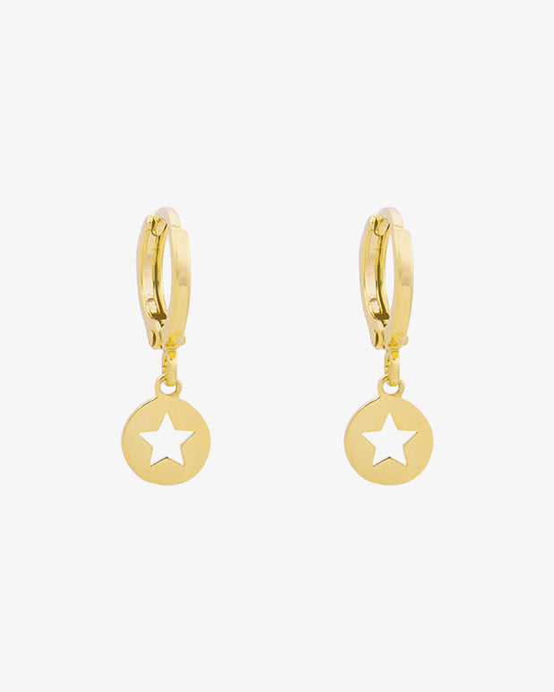 Surrounded Star Earrings - Gold - we are SASSY.