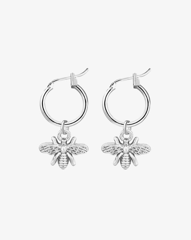 The Bee Earrings - Silver - we are SASSY.