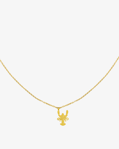 The Lobster Necklace - Gold - we are SASSY.