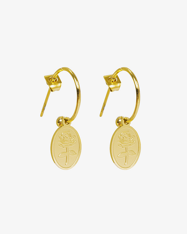 The Rose Earrings - Gold - we are SASSY.