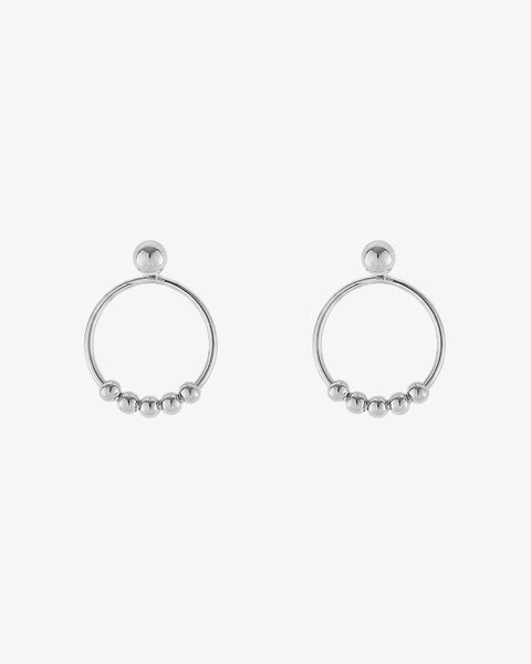 Tiny Rounds Earrings - Silver