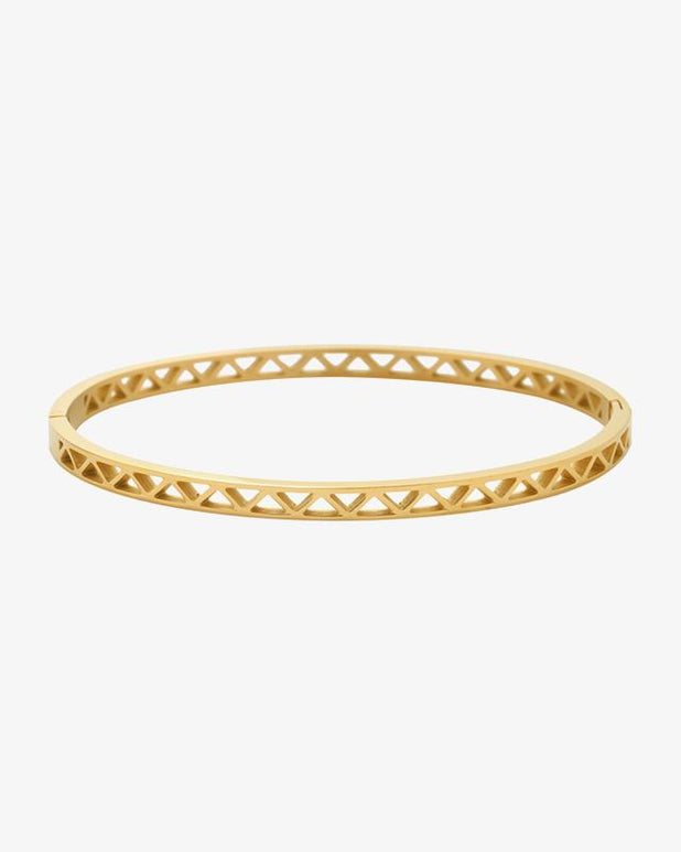 Triangles Bangle - Gold - we are SASSY.
