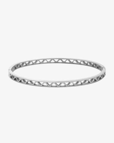Triangles Bangle - Silver - we are SASSY.