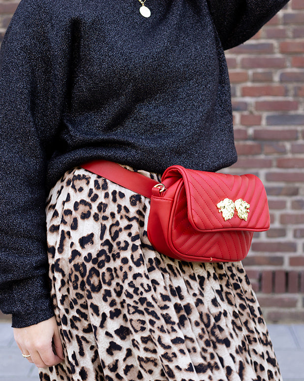 Two Ways Lion Bag - Red - we are SASSY.