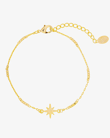 Universe Star Bracelet - Gold - we are SASSY.