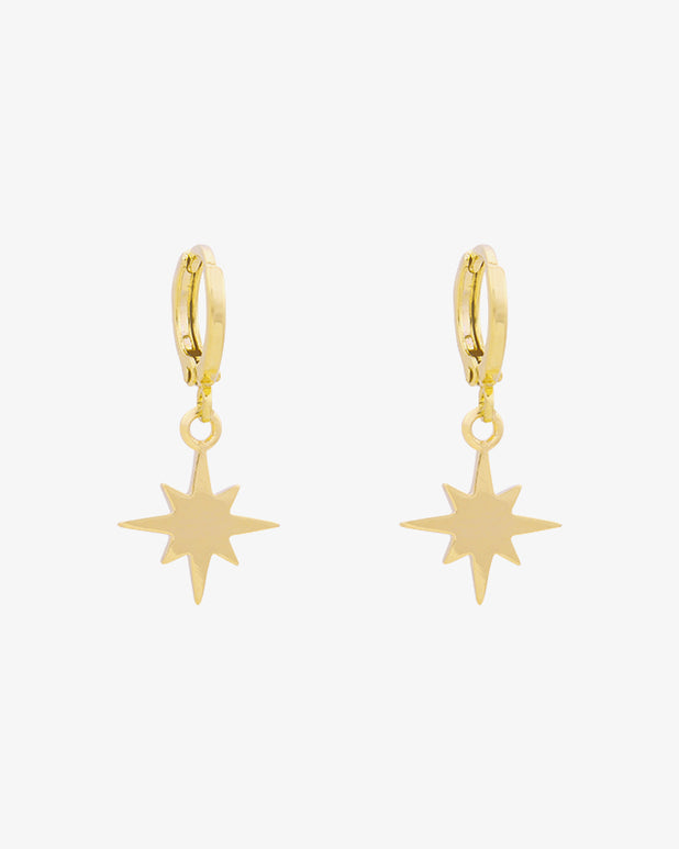 Universe Star Earrings - Gold - we are SASSY.