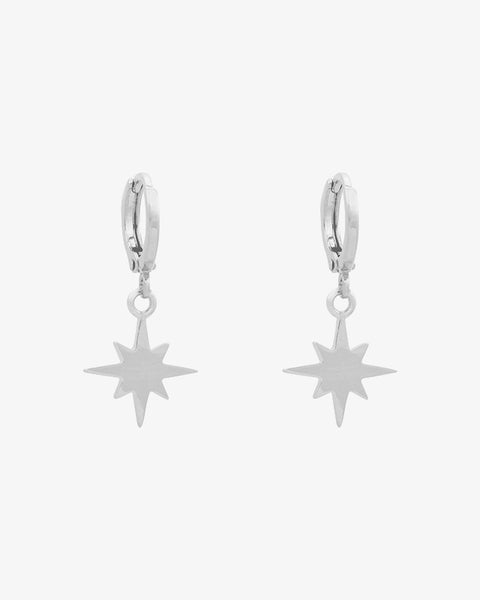 Universe Star Earrings - Silver