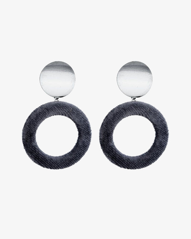Velvet Earrings - Grey - we are SASSY.