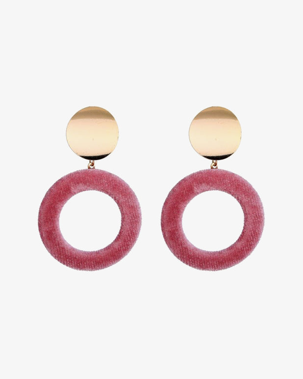 Velvet Earrings - Pink - we are SASSY.