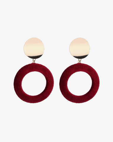 Velvet Earrings - Red - we are SASSY.