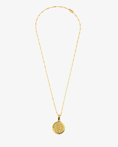 Vintage Coin Necklace - Gold - we are SASSY.