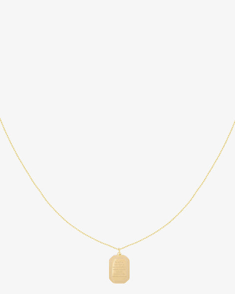 Wisdom Charm Necklace - Gold