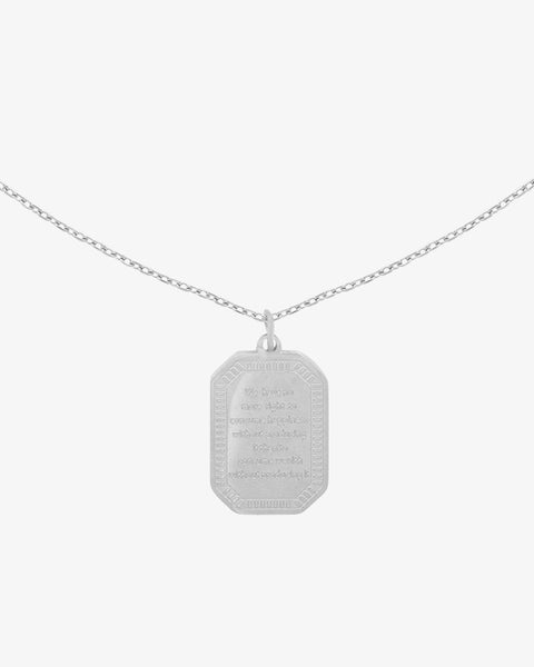 Wisdom Charm Necklace - Silver