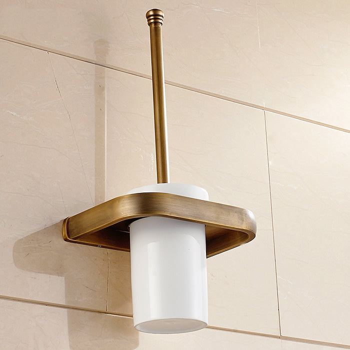Toilet brush holder 5 colors solid brass toilet brush and - Wall mounted ceramic bathroom accessories ...