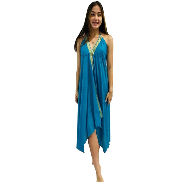 Bollywood Beach Dress Turquoise