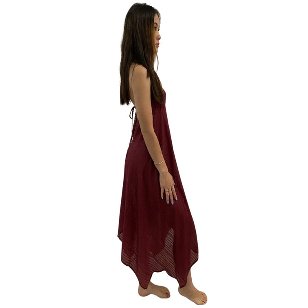 Bollywood Beach Dress Maroon