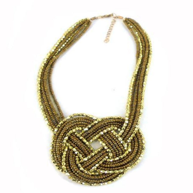 NE6619 Necklace - Gold Bead