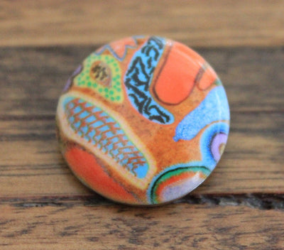RSC095- painted stone - Baobab collection