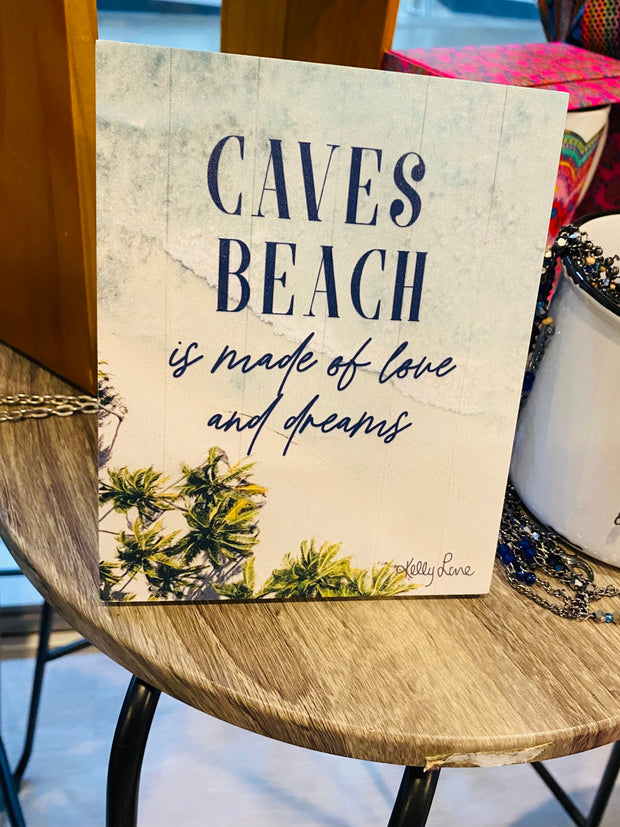 Caves beach plaque stand - great gift