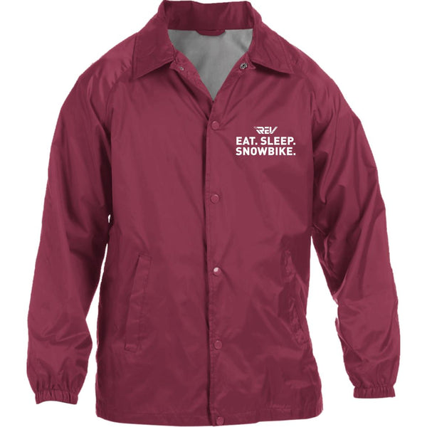 Eat.Sleep.Snowbike Coach Jacket