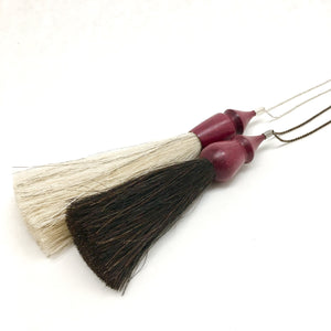 WS purpleheart tassel necklace